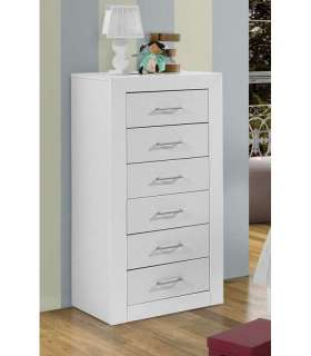 6 white lacquer bedroom drawer Chiffonier