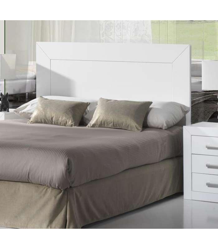 Cabecero 150 para dormitorio y alcoba blanco for Cabecero blanco madera