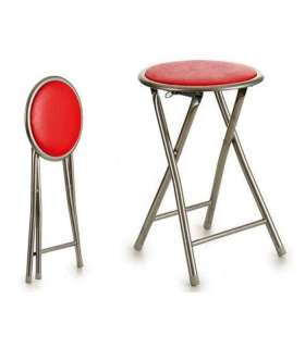 Pack 4 units folding stools in various colors.