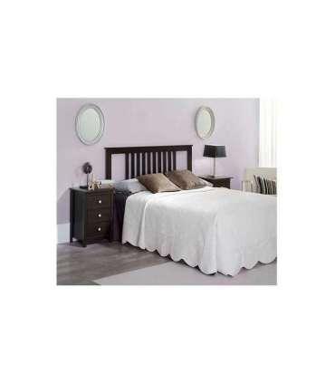 Conjunto Dormitorio Pino incluye cabecero 2 mesitas Modelo