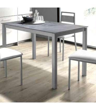 Mesa de cocina tapa ceramica estructura gris 75 cm(alto)100