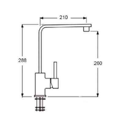 Chromium-coloured single-control faucet EM-140MAX4B