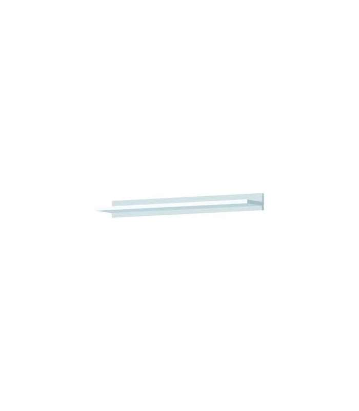 Estante de pared lacado blanco de 120 cms