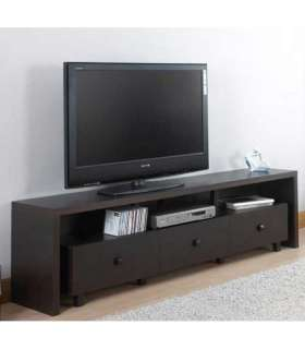 Mueble de televison barato xira 3 cajones wengue - Mesas TV - KitCloset -  KitCloset -  -