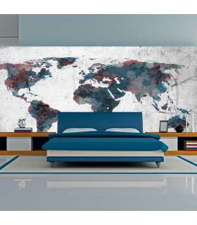 Fotomural XXL - World map on the wall - Imagen 1