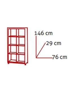 Estanteria alta kubox 2x4 varios colores Armarios-estanterias
