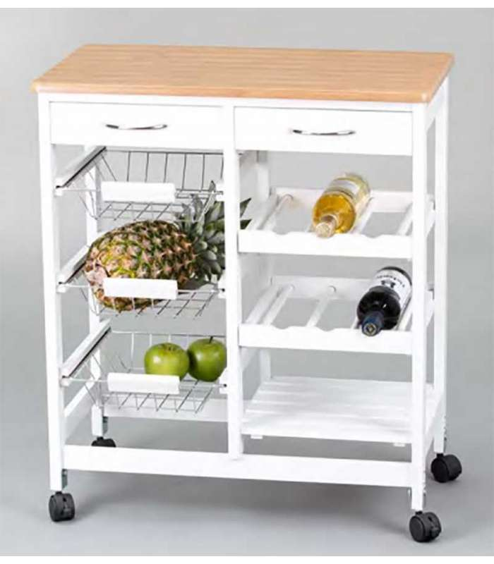Carro cocina completo madera y blanco - Mueblesbaratos com es ...