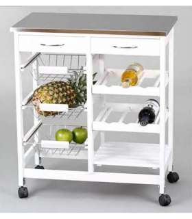 FULL STAINLESS KITCHEN CART