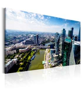 Cuadro - Aerial view of Moscow - Imagen 1