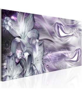 Cuadro - Lilies and Waves (1 Part) Narrow Pale Violet - Imagen 1