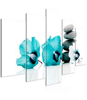 Cuadro - Calm Mallow (5 Parts) Wide Turquoise - Imagen 1