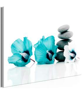Cuadro - Calm Mallow (1 Part) Wide Turquoise - Imagen 1