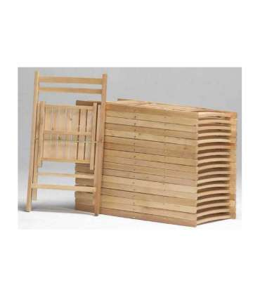 SET 4 CHAIRS WOOD FOLDING VARIOUS COLORS