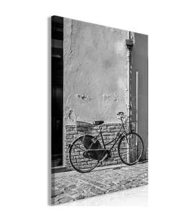 Cuadro - Old Italian Bicycle (1 Part) Vertical - Imagen 1