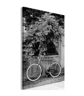 Cuadro - Bicycle and Flowers (1 Part) Vertical - Imagen 1