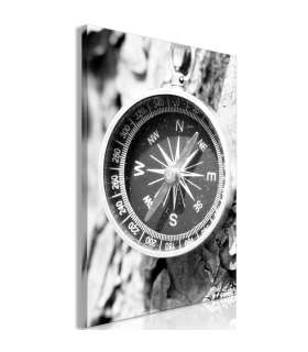 Cuadro - Black and White Compass (1 Part) Vertical - Imagen 1