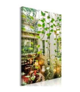 Cuadro - Cracow: Cafe with Ivy (1 Part) Vertical - Imagen 1