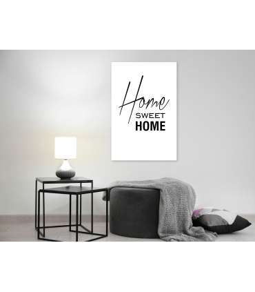 Cuadro - Black and White: Home Sweet Home (1 Part) Vertical - Imagen 2