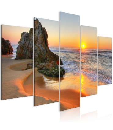 Cuadro - Meeting at Sunset (5 Parts) Wide - Imagen 1
