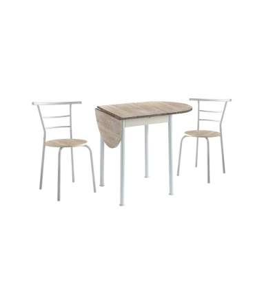 PDCOR Conj. mesa y sillas - taburetes Conjunto mesa Eva y 2
