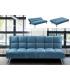 Inicio Sofá cama NEO en terciopelo azul. 43-83 cm (alto) 182