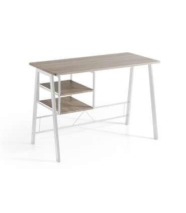 PDCOR Inicio Mesa escritorio con baldas Laura 120 x 52 x 76.5