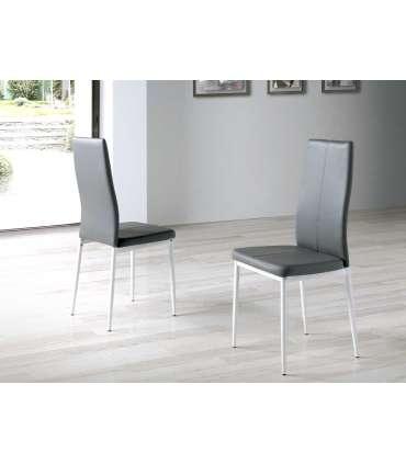 PDCOR Inicio Pack 4 sillas Lucía en acabado gris 42 x 47 x 98