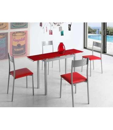 PDCOR Inicio Mesa de cocina extensible con dos alas laterales