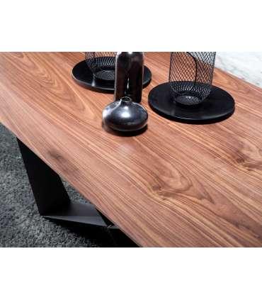 PDCOR Mesas de salon Mesa fija rectangular acabada en nogal