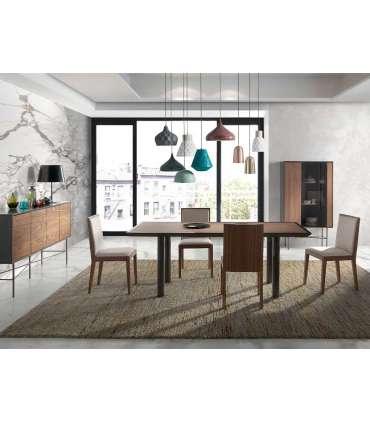 PDCOR Mesas de salon Mesa rectangular con acabado en madera de