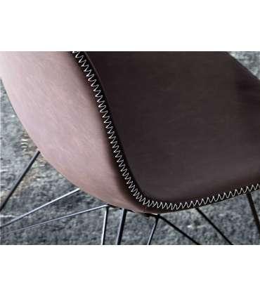 PDCOR Sillas de salón pack 2u. Pack de 2 sillas en color marrón