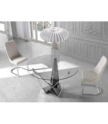 PDCOR Sillas de salón pack 2u. Pack de 2 sillas en color blanco