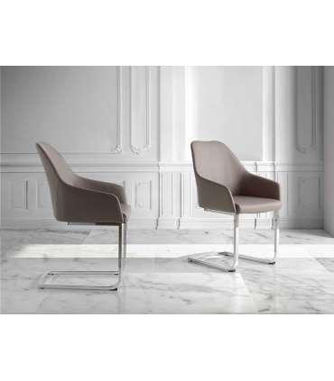 PDCOR Sillas de salón pack 2u. Pack de 2 sillas en color gris