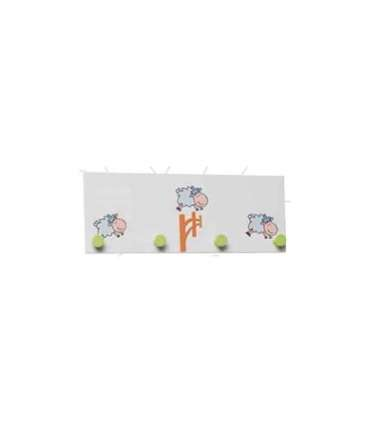 Percha infantil 901 sheep blanco ovejas