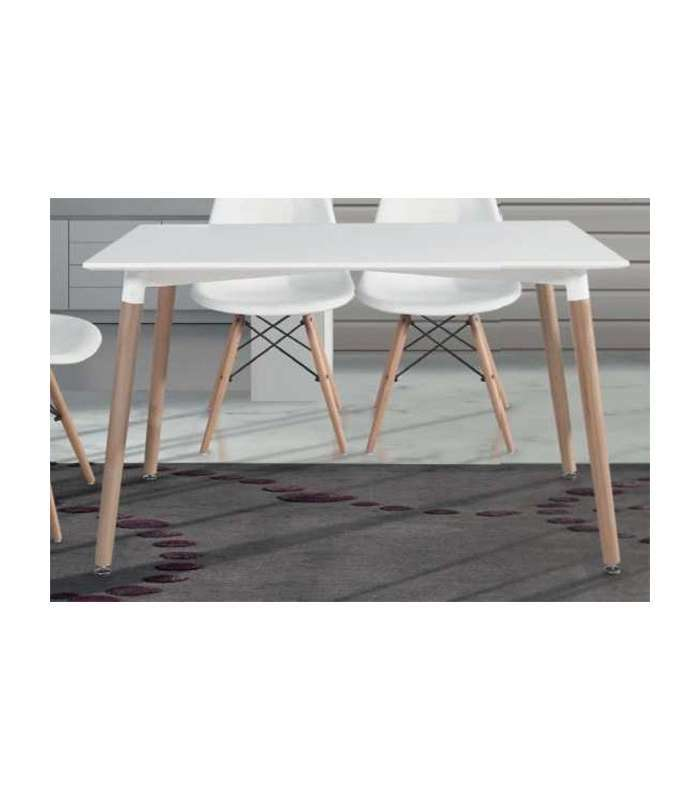 Table modern dining top white legs have