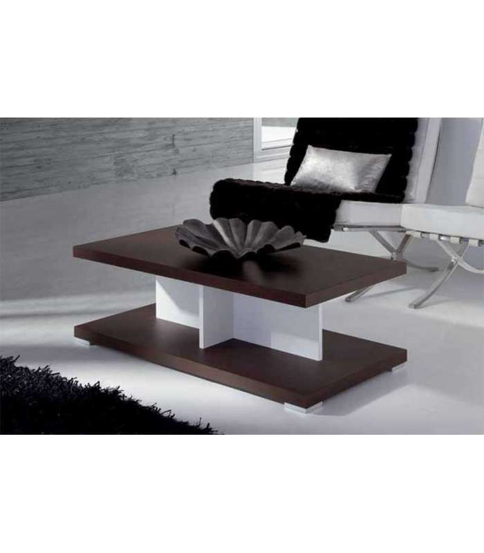 Rectangular white lacquered coffee table muebles baratos for Mesas de centro para sala modernas