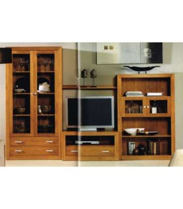 FURNITURE SALON WITH N2 SOLID WOOD BOOKCASE