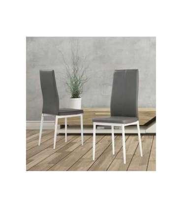 Conjunto mesa Carla 2 colores + 4 sillas Lucia 2 coloresCMC