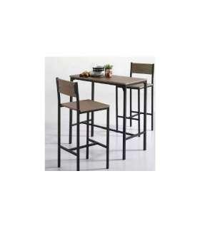 Pack mesa cocina alta  + 2 taburetes altos