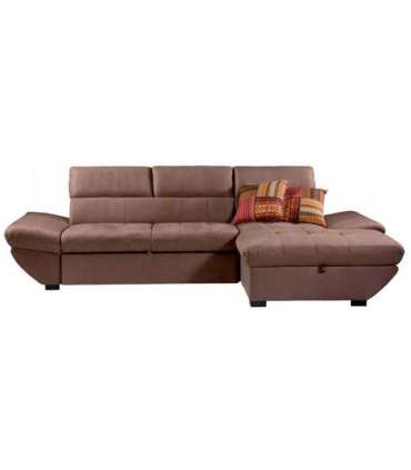 Chaiselongue marron cama y arcon