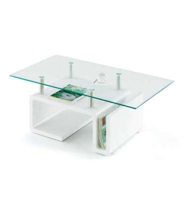 Mesa centro rectangular Tadeo con revistero
