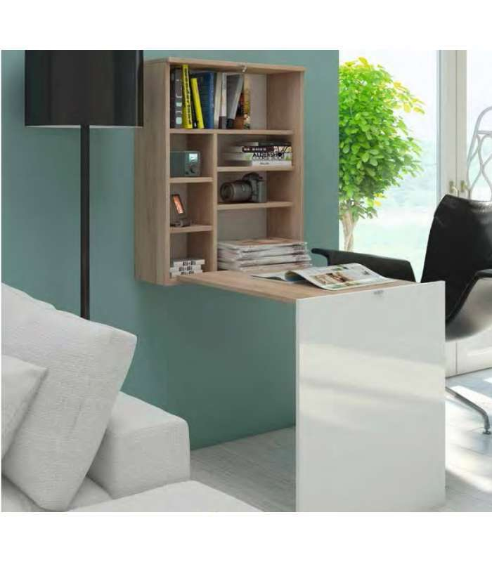 Mueble escritorio colgado color cambrian cambrian tapa for Mesas de oficina baratas