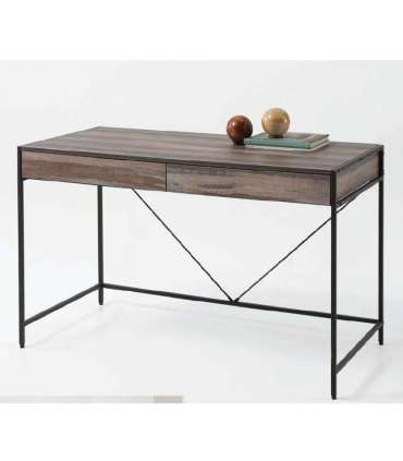 SMALL DESKTOP TABLE GLASS AND STEEL