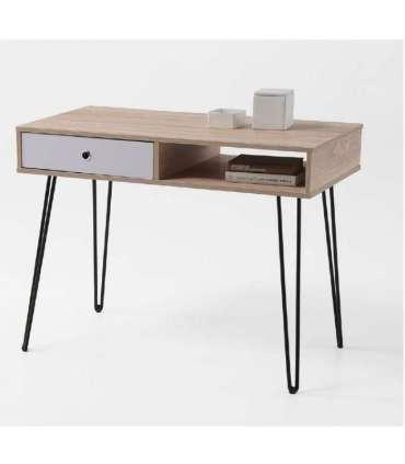Mesa de escritorio Kala 1 hueco + 1 cajón.KitCloset Mesas
