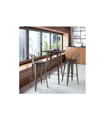 SET KITCHEN TABLE AND 4 CHAIRS BLACK