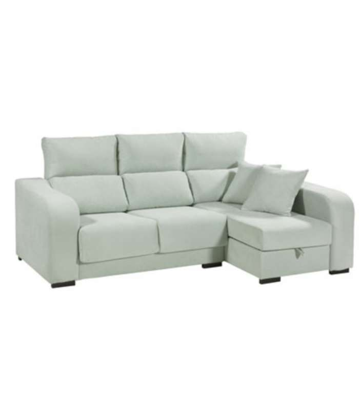 Chaise-longue Boston with pouffes and cushions