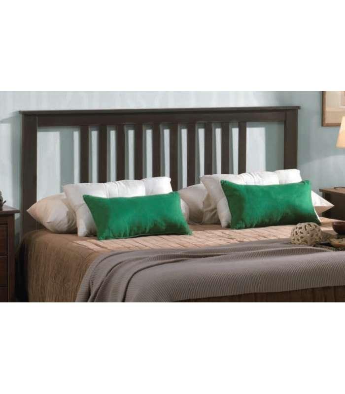 Cabecero 135 para dormitorio  en madera  de pino maciza Tabac