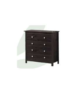 CHEST OF DRAWERS 4 DRAWERS YOUTH BEDROOM OR MARRIAGE TABAC