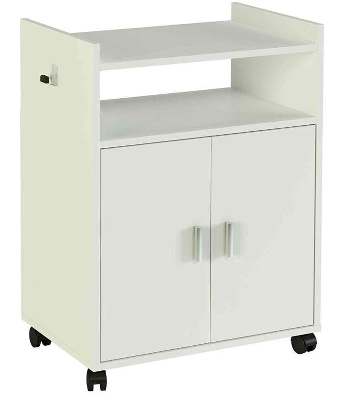 Mueble auxiliar microondas blanco