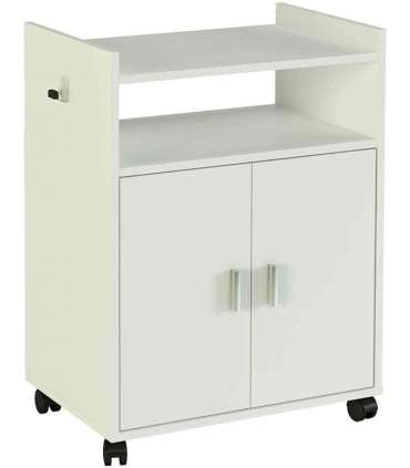 AUXILIARY WHITE MICROWAVE CABINET